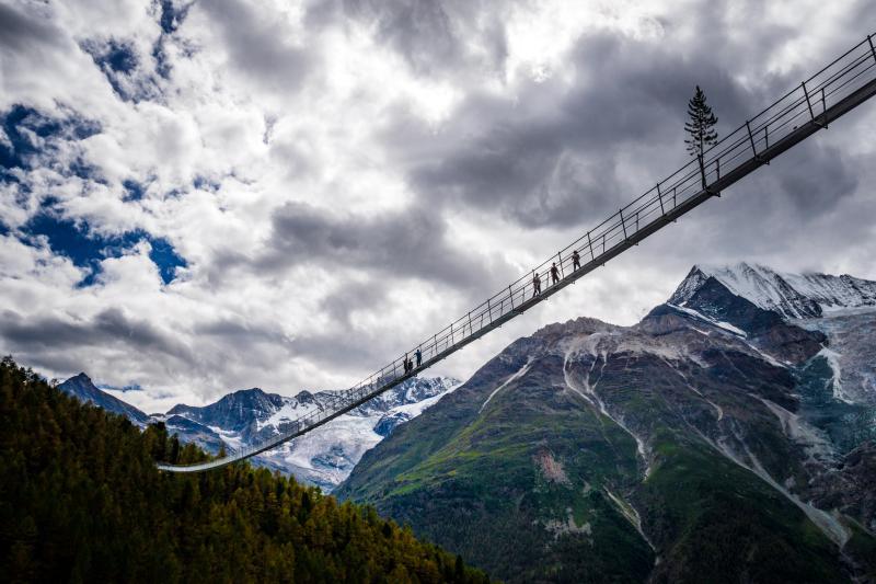 Impressionen Eröffnung Charles Kuonen Hängebrücke